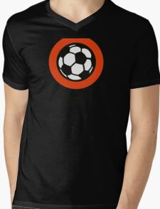 Football emblem of Netherlands Mens V-Neck T-Shirt