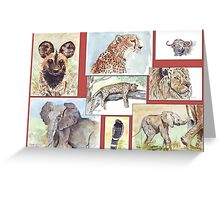 South African Wildlife collection Greeting Card