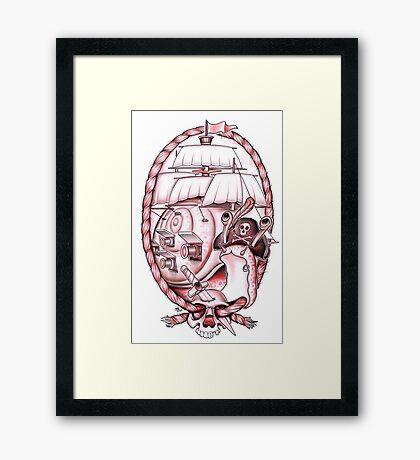 Captain Blackshell Framed Print