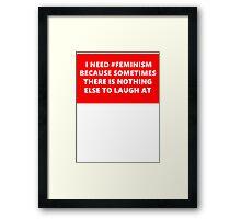 #feminism Framed Print