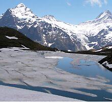 Bachalpesee with Fiescherhornen in the background, Switzerland by Laurie Puglia