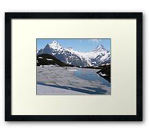 Bachalpesee with Fiescherhornen in the background, Switzerland Framed Print