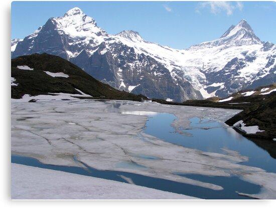 Bachalpesee with Fiescherhornen in the background, Switzerland by Laura Puglia