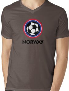 Football coat of arms of Norway Mens V-Neck T-Shirt