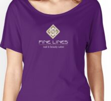 Fine Lines Nail and Beauty Salon Women's Relaxed Fit T-Shirt
