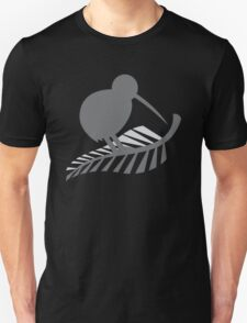 Kiwi Bird and a Silver fern New Zealand  T-Shirt