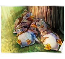The Penguins of Madagascar - Napping Baby Penguins Poster