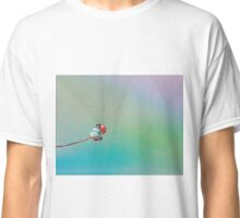 Little red ladybug on dew water droplet Classic T-Shirt