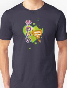 Kawaii Kute Hungry Raccoon Green Unisex T-Shirt