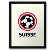 Football crest of Switzerland Framed Print
