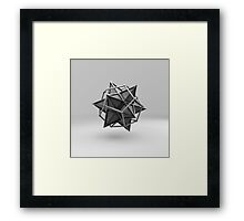 Caged Stellated Dodecahedron Framed Print