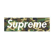 Supreme Camo Box Logo  by nathsnowy
