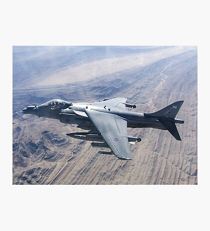 RAF Harrier ZD348 Photographic Print