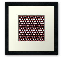 Pokemon Pattern Framed Print