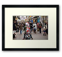 1960's scooter in Carnaby Street, London Framed Print