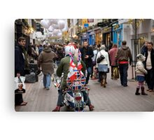 1960's scooter in Carnaby Street, London Canvas Print