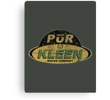 PŪR & KLEEN - water company Canvas Print