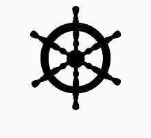 Nautical Ship's Wheel Womens Fitted T-Shirt