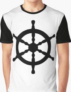 Nautical Ship's Wheel Graphic T-Shirt