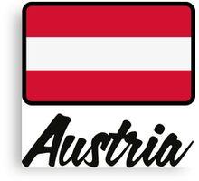 National Flag of Austria Canvas Print