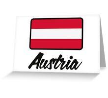 National Flag of Austria Greeting Card