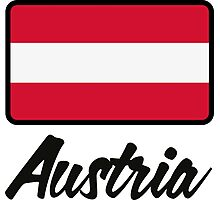 National Flag of Austria Photographic Print