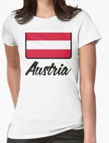 National Flag of Austria Womens Fitted T-Shirt