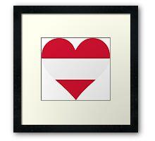 A heart for Austria Framed Print