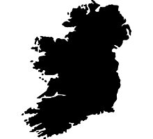 Map of Ireland Photographic Print