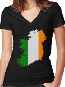 Ireland Women's Fitted V-Neck T-Shirt
