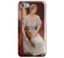 REPIN, ILYA - Portrait of the Violinist Cecilia Hansen iPhone Case/Skin