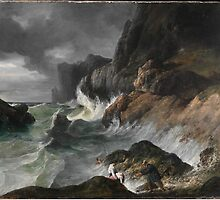 Shipwreck Horac, Horace Vernet, Oil On Canvas, Romantic Art, Art History, Vernet French, Natural, Coast Scene, Stormy Coast by Adam Asar