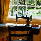 Sewing Machine By Window by Susan Savad