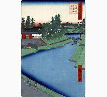 Benkei Moat From Soto-Sakurada To Kohimachi - Hiroshige Ando - 1856 - Woodcut Unisex T-Shirt