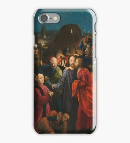 THE PROPERTY OF A LADY The Master of the Dreux-Budé Triptych, probably André d'Ypres,  THE BETRAYAL AND ARREST OF CHRIST iPhone Case/Skin