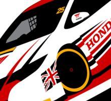 Matt Neal 2015 Honda Yuasa Racing Touring Car BTCC Sticker