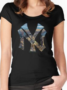 New York Black edition Women's Fitted Scoop T-Shirt
