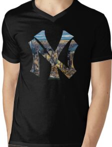 New York Black edition Mens V-Neck T-Shirt