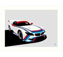 BMW Z4 GTLM CSL Tribute 2015 Rahal Letterman Lanigan Race Car Art Print