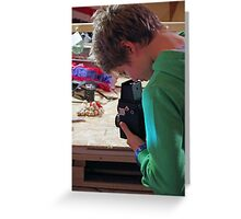 Old Fashioned Photography Greeting Card