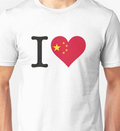 I Love China Unisex T-Shirt