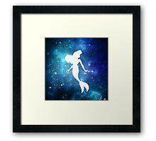 Ariel In Galaxy Framed Print
