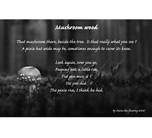 Mushroom wood - black and white Photographic Print