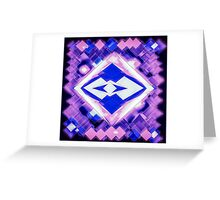 3D Mapping Art Greeting Card