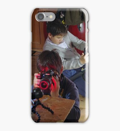 Playing The Photo Game iPhone Case/Skin