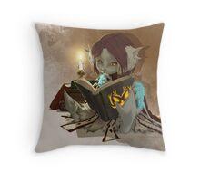 Candlelight Reading Throw Pillow