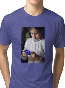 Watching Photos Tri-blend T-Shirt