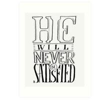 Satisfied Typography Art Print