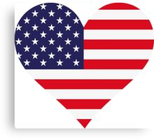 A heart for America Canvas Print