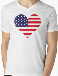 A heart for America Mens V-Neck T-Shirt